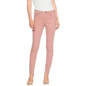 NWT Light Pink Mid-Rise Skinny Jeans